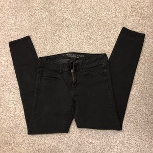 American Eagle Jegging Super Stretch Black Jeans